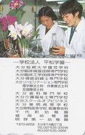 Carte Prépayée Japon - FLEUR - ORCHIDEE & Femme - ORCHID Flower & Woman Girl Japan Tosho Card - Blume Karte -  913 - Blumen