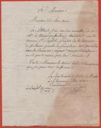 BONFOL 1818  Porrentruy Fontenois  Lettre En Franchise - Marcophilie (Lettres)