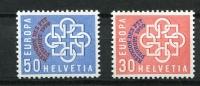 Switzerland  1959 Sc 376-7 Mi 681-2 MNH Overprint European Unity CV $75.00 - Zwitserland