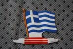 GRECE GREECE  DRAPEAU FLAG BANDIERA ΣΗΜΑΙΑ FLAGGA >TOLE  PLIABLE-PUB L'ALSACIENNE BISCU - Reclame