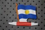 ARGENTINA  DRAPEAU FLAG BANDIERA ΣΗΜΑΙΑ FLAGGA-TOLE PLIABLE-PUB L'ALSACIENNE BISCUIT REPLI - Reclame