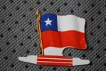 CHILI CHILE DRAPEAU FLAG BANDIERA ΣΗΜΑ&I Ota;Α FLAGGA-TOLE PLIABLE-PUB L´ALSACIENNE BISCUIT REP - Reclame