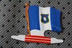GUATEMALA  DRAPEAU FLAG BANDIERA ΣΗΜΑΙΑ FLAGGA-TOLE PLIABLE-PUB L'ALSACIENNE BISCUIT REPLI - Reclame