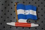 HONDURAS  DRAPEAU FLAG BANDIERA ΣΗΜΑΙΑ FLAGGA-TOLE PLIABLE-PUB L'ALSACIENNE BISCUIT REPLIE - Reclame
