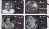 GREECE - Old Greek Actors, Set Of 4 VF Promotion Prepaid Cards, Tirage 50, Mint - Grèce