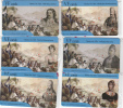 GREECE - The Greek Revolution Of 1821, Set Of 6 VF Promotion Prepaid Cards, Tirage 50, Mint - Grèce