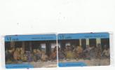 GREECE - The Last Supper, Painting/Leonardo Da Vinci, Puzzle Of 2 VF Promotion Prepaid Cards, Tirage 50, Mint - Grecia