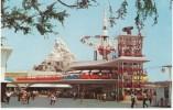 Disneyland Tomorrowland Ride  Rocket Ships, People Mover, On C1960s Vintage Postcard - Disneyland