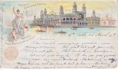 Columbian Expo Card Used From Spain To Belgium   (o) - 1893 – Chicago (Die Vereinigten Staaten)