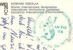 Wien Internationale Gartenschau Horticulture Stempel ! WIG 1974 - Wien