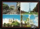 Paris - Carte Multivues Ref 1107-030 - France