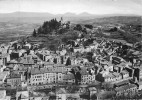 CPM 04 FORCALQUIER VUE GENERALE AERIENNE LA CITADELLE DE PROVENCE VOYAGEE 1954 - Forcalquier
