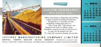 Blotter Jeffrey Manufacturing Company Limited, Montreal  Toronto  Hamilton Halifax Vancouver 9 In X 4 In  23 Cm X 9.5 Cm - Löschblätter, Heftumschläge