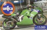 TARJETA  DE VENEZUELA DE MOTO DE CARRERAS MIGUEL BOCARDO (MOTORBIKE)  UNICA - Motos