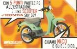 TARJETA DE ITALIA DE UNA SCOOTER  (MOTO-MOTORBIKE) - Motos