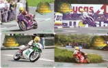 SERIE COMPLETA 4 TARJETAS MOTOS DE LA ISLA DE MAN  AÑO 2001 (MOTORBIKE) - Motos