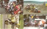 SERIE COMPLETA 4 TARJETAS MOTOS DE LA ISLA DE MAN (MOTORBIKE) - Motos