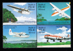 Palau Scott #C13a MNH 44c Trans-Pacific Airmail Anniversary Block Of 4 - Palau