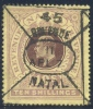 Natal REVENUE 1808. 10sh Violet And Brown On Yellow Paper. Barefoot 103. - Unclassified