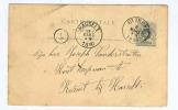 Entier Postal Lion Couché ST TROND 1890 Vers KERMT Bij HASSELT - Origine Jan Motmans à NIEUWERKERKEN --  B7/661 - AK [1871-09]