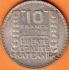 PIECE MONNAIE 10 FRANCS 1931  - GRAVEUR TURIN  - ARGENT  - 3ième REPUBLIQUE 1871 - 1940 VOIR LES SCANS... - France