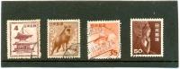 1952 JAPON Y & T N° 507-508-509-511 ( O ) Série Courante - 1926-89 Emperor Hirohito (Showa Era)