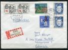 Germany 1966 Cover Sent To Austria Registered - BRD