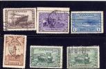 CANADA 1942, USED  # 257  To 262.  King George V1,  War Isssue  # 262 Missing Tooth In LU Corner - 1937-1952 Règne De George VI