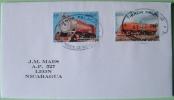 Nicaragua 2011 Cover Managua To Leon - Trains Locomotives Railway Africa - Nicaragua