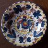 DERUTA Hanenbord- Assiette Au Coq - Rooster Plate - Hahn Teller - Piatto Al Gallo (SE169) - Deruta (ITA)