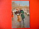 Couple De Patineurs Sur Glace Envoyée à Anvers ,1912. - Sports D'hiver