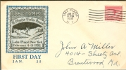 USA FDC 25-1-1932 Olympic Stamp Right Side Imperforated - Winter 1932: Lake Placid