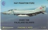 TARJETA DE FALKLAND ISLANDS DE UN AVION PHANTOM FGR2 (PLANE) - Falkland Islands