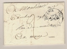 LAC  CHATEAU DU LOIR SARTHE POUR LE MANS 14 OCT 1836 / TAXE - Poststempel (Briefe)