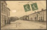 33 - SAINT AUBIN DE BLAYE----rue Principale---régie Recette Buraliste Avec Drapeau--animé - France