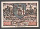Moyen D'urgence Eisenach 1921, 50 Pfennig, Wartburg Und Stadtwappen, Luthers Ankunft Auf Der Wartburg - [11] Local Banknote Issues