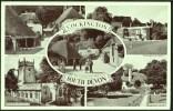 """Cockington"" Multi-view,  Postally Used 1955,  Real Photo. - England"