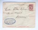 Enveloppe Entier Fine Barbe BERCHEM STE AGATHE 1905 Vers MENIN - Cachet Fabrique De Cigares Maison Boelen Cie --  B7/687 - Covers