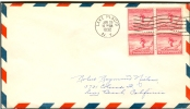 USA FDC 25-1-1932 BLOC OF 4 LEFT AND UNDER IMPERFORATED - Winter 1932: Lake Placid