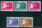 SWA 1953 Mint Hinged Stamps Coronation Flowers 274-278 - Namibia