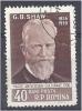 ROMANIA 1956 Cultural Anniversaries. - 40b George Bernard Shaw (dramatist) Birth Centenary  CTO - Gebraucht