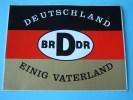 DEUTSCHLAND - BRDDR - EINIG VATERLAND ( Details - Zie Foto ) !! - Autocollants