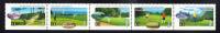 Canada Scott #1557ai MNH Strip Of 5 Straight Edge At Bottom Never Folded 43c Golf In Canada - 1952-.... Règne D'Elizabeth II