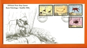 BOTSWANA 1975 Mint FDC Cave Paintings 136-139 - Art