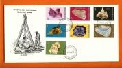 BOTSWANA 1974 Mint FDC Minerals 114-127 (2 Enveloppes) F3153a+3153b - Minerals
