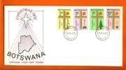 BOTSWANA 1972 Mint FDC Christmas 92-95, F3149 - Christmas