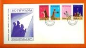 BOTSWANA 1971 Mint FDC Christmas 80-83 - Christmas