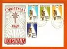 BOTSWANA 1969 Mint FDC Christmas 54-57, F3134 - Christmas