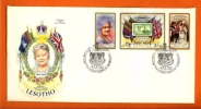 LESOTHO 1980 Mint FDC Queen Mother 80 Years 316-318 - Royalties, Royals