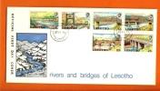 LESOTHO 1974 Mint FDC Bridges 160-165 - Bridges